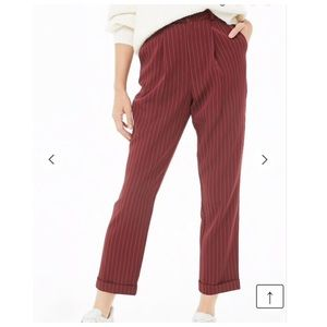 Forever 21// pinstriped pleat- front pants!